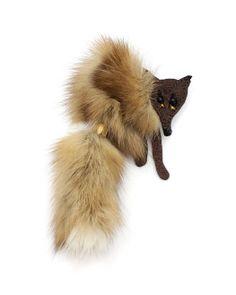 Brooch Fox classic