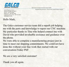 Working late on a Friday? You bet we are!  Way to make sure that the customer was taken care of, Mark! Spectacular job! And thank you for taking the time to write us, J.D.! We're so happy that everything went smoothly.  #CustomerService