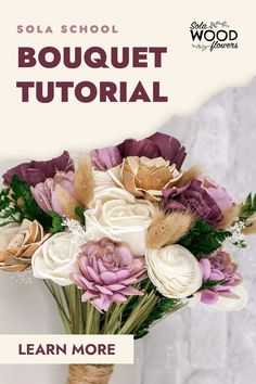 Whether you're looking for a Sola Wood Flower wedding bouquet for your special day or making one for a client, this simple and elegant bouquet will stop everyone in their tracks. Learn how to recreate this wedding bouquet for less than half what you would normally spend when using real flowers. #diyflowers #woodflowers #solawood #diycraft #craftideas #diy #preservedflowers