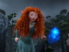 Screenshot from the movie Brave. (Wild hair.)