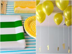 balloons filled with helium + age number hanging