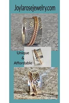 Silver Jewelry / Spinner Rings / Mothers day gift Silver Rings Handmade, Handcrafted Jewelry, Silver Jewelry, Celebrity Shoes, Anthropologie Shoes, Spinner Rings, Ankle Booties, Stiletto Heels, Gold Rings