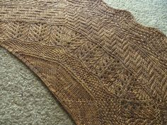 Geology shawl - which do I love most?  the patter or the yarn?