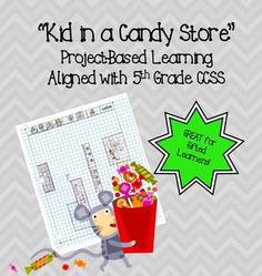 Candy Project Based Learning Common Core Fraction, Decimal