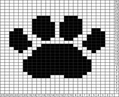Tricksy Knitter Charts: pawprint (51415) (72415) by riri