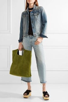 Simon Miller - Birch Large Nubuck Tote - Green - one size