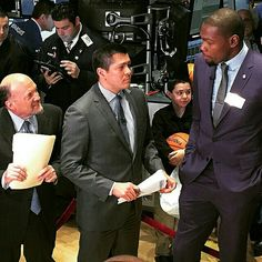 KD, while on the trading floor of the NYSE, a quick interview with Jim Cramer and CNBC. #ThunderAllStar
