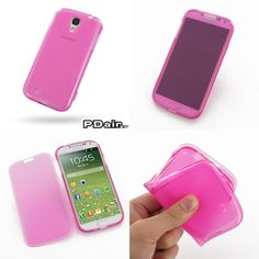 PDair Soft Plastic Case for Samsung Galaxy S4 SIV LTE GT-i9500 GT-i9505 - With Cover Series (Petal Pink)