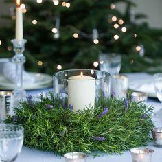 Candle Arrangements, Christmas Arrangements, Wedding Arrangements, Floral Arrangements, Lavender Centerpieces, Candle Centerpieces, Candles, Christmas Flowers, Christmas Wreaths