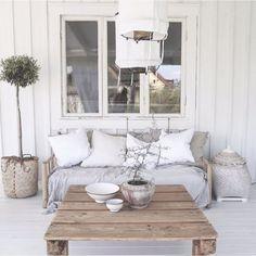 ❉ My Home Inspiration ❉   Veranda - Lounge ♡   scandinavian | whiteinterior | scandinavianstyle | nordicstyle | nordichome | nordicinspiration | nordic | scandinavianhome | scandinavianinterior | interior | interiordesign | whitedecor | scandinavisch | decoration | witwonen | interieur | scandinavischwonen | scandicinterior | notmypic | notmyphoto
