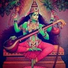 Wonderful painting depicting Devi Matangi