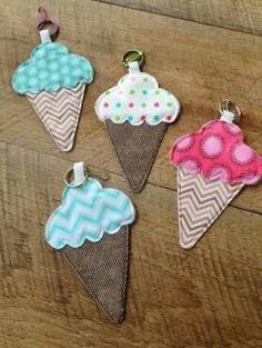 Sewing ice cream cones