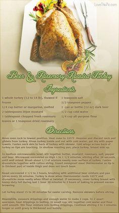 Beer & Rosemary Turkey Recipe