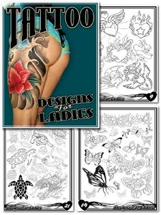 http://tattoodesignsforwomenfree.com/pinnable-post/designs-for-ladies-tattoo-sketchbook/ 22 pages of Beautiful artwork that includes hearts, butterflies, turtles and much, much, more.