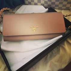 Prada chain wallet! Got this for spring Wallet Chain 4493af64744
