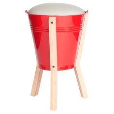 Pedersen and Lennard: Bucket Stool Red