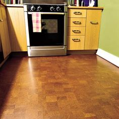 Installing cork flooring - warmer and easier to install than wood flooring