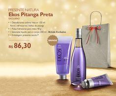 Presente de Natal Natura | Natura Ekos Pitanga Preta - Colônia, polpa para mãos e sabonete liquido.