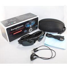 HD video camera mini DV 1280*720 MP3 stereo bluetooth listening glasses card Record polarized  glasses microphone hands-free