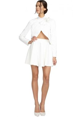 $220, Alice   Olivia Blaise Flare Skirt. Sold by alice   olivia. Click for more info: https://lookastic.com/women/shop_items/255578/redirect