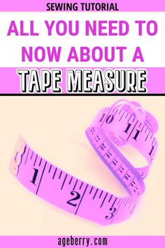 A measuring tape is one of the most useful sewing tools and indispensable in any sewing room. This sewing tutorial will focus on the following topics - how to read a tape measure for sewing, how to buy a measuring tape, tape measure types, etc. A tape measure is used primarily for taking body measurements, as well as for drafting patterns, measuring fabric, laying out patterns on fabric, etc. #sewingtools #sewingtutorials #tapemeasure #howtosew