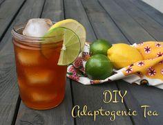 4 DIY Adaptogenic Herbal Tea Blends- for vitality and wellness.