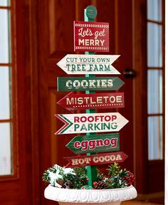 Your outdoor space isn't complete without fun garden decor. Outside Christmas Decorations, Diy Christmas Lights, Christmas Wood Crafts, Christmas Tree Painting, Christmas Yard, Christmas Makes, Christmas Signs, All Things Christmas, Holiday Crafts