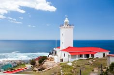 Lighthouse, Mossel Bay, The Garden Route and Little Karoo, South Africa Tourism In South Africa, Fauna Marina, Lighthouse Pictures, Landscaping Images, Seaside Towns, Whale Watching, Amazing Architecture, Hot Springs, View Photos