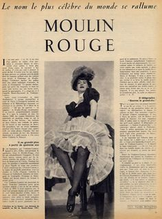 Moulin Rouge 1951 Chorus Girl Toulouse-Lautrec Jane Avril La Goulue Clownesse Cha-U-Kao