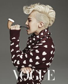 G Dragon for Vogue August 2013 Issue. evidently, he makes heart pattern can look good for a man