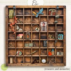 "Inspired by my own many treasures collected over the years, this Digital Scrapbook Elements/Box Frame set is perfect for your personal memories. All items in this set are individual ""build your own frame/box"" for a customized detail in your albums.  	Included in this prod..."