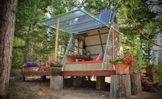 When photographer Alla Ponomareva and her husband Garrett wanted a new guesthouse for their home in Montana, they decided to take matters into their own hands and built it themselves. They chose a design that they came across online, an 80 square feet A-frame, built by a construction company following the plans of one of …