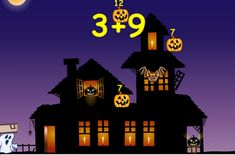 Interactive Education: Halloween Math Addition, subtraction, multiplication, division (Great extension for advanced kids; computer NOT iPad, though! Halloween Math, Halloween Activities, Math Resources, Math Activities, Math Fact Practice, Multiplication Practice, Math School, School Days, School Stuff