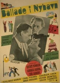 Ballade i Nyhavn (1942). En vangeforbryder for den fikse ide, at udføre en krimiforfatters kup.