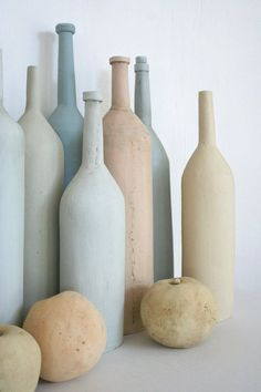 Ceramic still life with bottles and by HouseOfCeramics