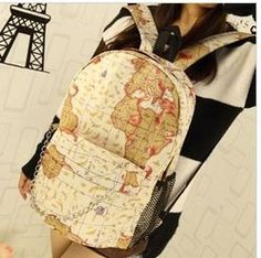 $5 Online Shop 2014 flag map backpack school bag male woman newspaper bag green bag|Aliexpress Mobile $5 Deal