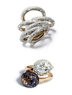 Today I'm Coveting…Pomellato Rings High Jewelry, Jewelry Rings, Jewelry Box, Jewelry Watches, Jewelry Accessories, Jewelry Design, Pomellato, Bling, Love Ring
