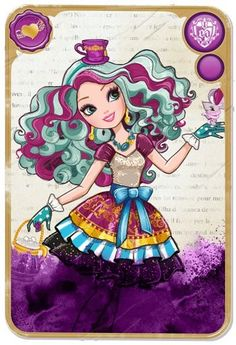 This is Madeline Hatter, the DAUGHTER of the Mad Hatter in the Ever After High universe. Description from still-she-haunts-me-phantomwise.tumblr.com. I searched for this on bing.com/images