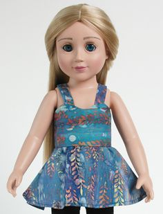 Free doll clothes pattern for 18 inch Carpatina Dolls | 18 in vinyl fashion designer doll | Erin and Zoe | Fantasy Adventures collection of doll clothes, costumes and accessories.