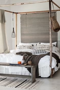 White dosent mean plain and boring - #designlove #bedroom #serenity #clearliving