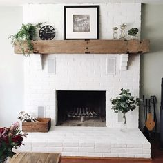 This Is A Gorgeous White Painted Fireplace Love How Bright It Have You Ever Wondered To Paint Look No Further
