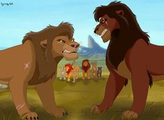 Who is the left lion