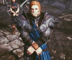 LOOK AT THAT ARMOR OH MY I KNOW ITS MODDED AND ULFRIC LOOKS KIND OF WEIRD BUT THAT ARMOR IS GREAT