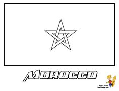 morocco flag coloring pages kids at yescoloring