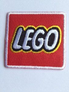 "Lego Logo Iron-on Patch (2"" / 4.5cm) Red Embroidered"