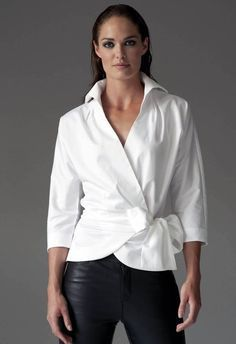 The Perfect White Shirt - By The Shirt Company - Avalon & Kelly - navy mens shirt, mens shirts casual, menswear shirt *ad Classic White Shirt, Crisp White Shirt, The Perfect White Shirt, Blouse Wrap, Wrap Shirt, Long Blouse, Mode Pop, White Shirt Outfits, White Blouse Outfit