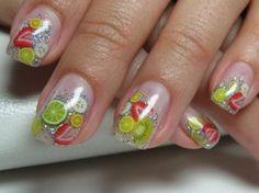 fimo frut nails