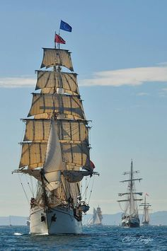 Europa   56 m 1911. Tall ships of the Naval review on Sydney Harbour Oct 2013.