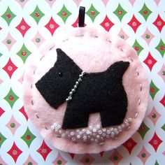 Scottie Dog Ornament in Frosty Pink by thetinygarden, via Flickr