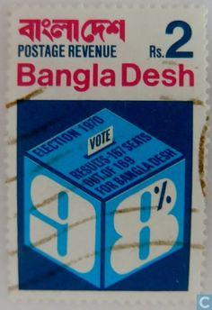 Postzegels - Bangladesh [BGD] - Verkiezingen 1970